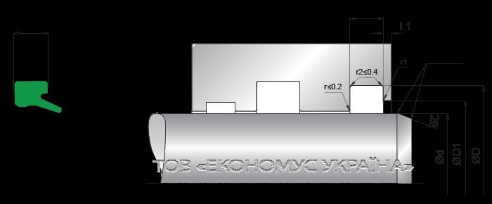 Посадочное место грязесъмника (скребка) A02_A
