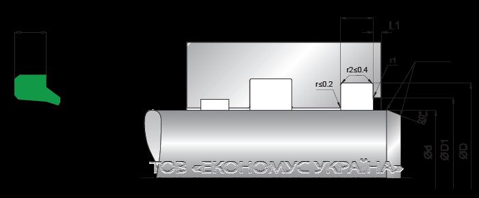 Посадочное место грязесъмника (скребка) A02_I