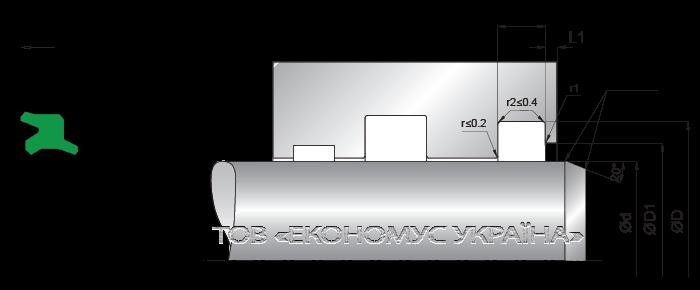 Посадочное место грязесъмника (скребка) A11_I