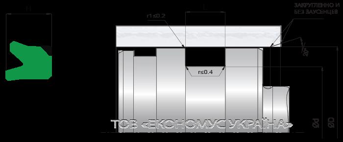 Посадочное место поршневой манжеты (уплотнения поршня) K02_PD