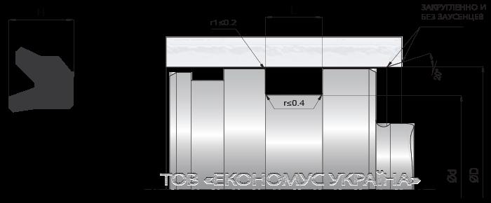 Посадочное место поршневой манжеты (уплотнения поршня) K02_RD