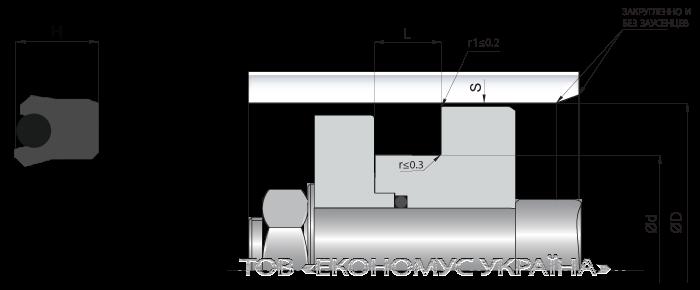 Посадочное место поршневой манжеты (уплотнения поршня) K03_F