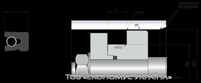 Посадочное место поршневой манжеты (уплотнения поршня) K03_S