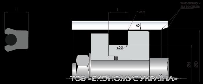 Посадочное место поршневой манжеты (уплотнения поршня) K07_F