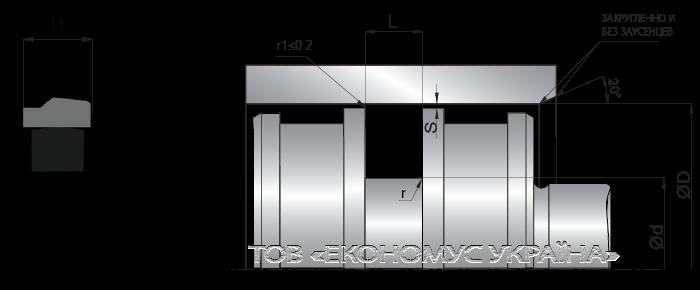 Посадочное место поршневой манжеты (уплотнения поршня) K08_ES