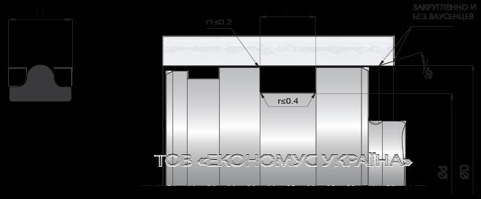 Посадочное место поршневой манжеты (уплотнения поршня) K20_R