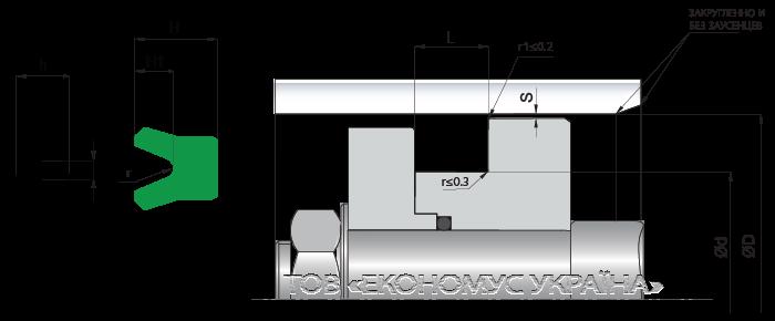 Посадочное место поршневой манжеты (уплотнения поршня) K22_P