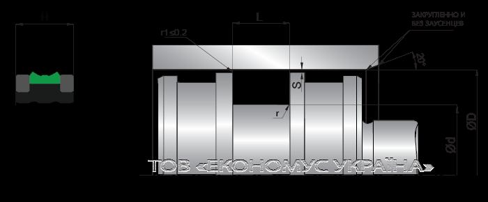 Посадочное место поршневой манжеты (уплотнения поршня) K23_D