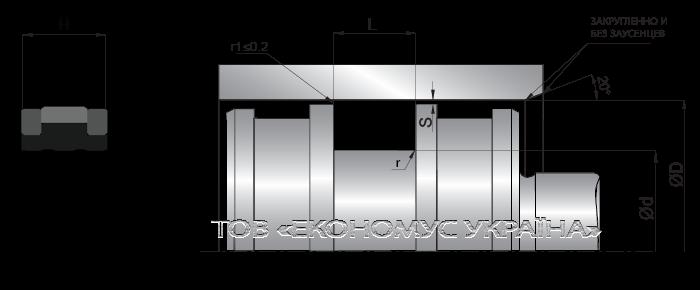 Посадочное место поршневой манжеты (уплотнения поршня) K23_F