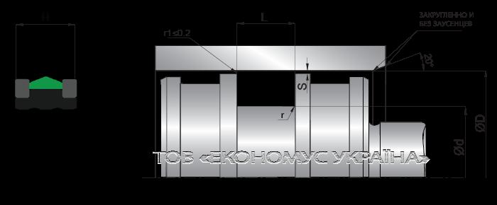 Посадочное место поршневой манжеты (уплотнения поршня) K23_N