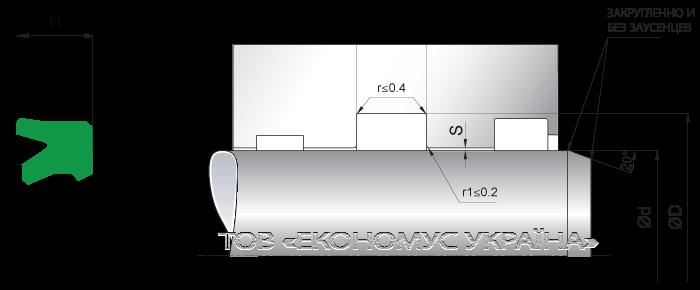 Посадочное место уплотнения штока (штоковой манжеты) S17_P