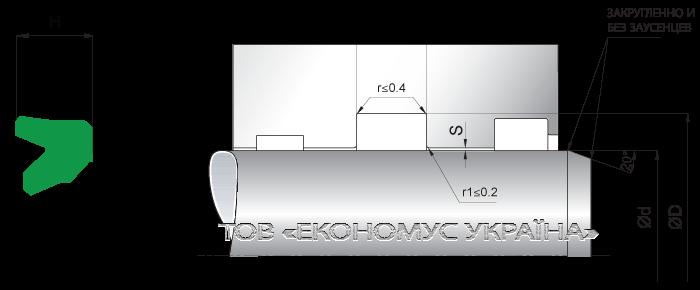 Посадочное место уплотнения штока (штоковой манжеты) S02_PD