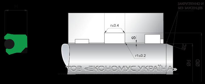 Посадочное место уплотнения штока (штоковой манжеты) S04_PD