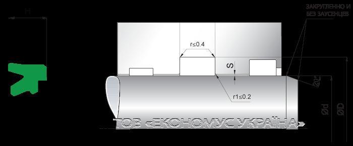 Посадочное место уплотнения штока (штоковой манжеты) S18_P