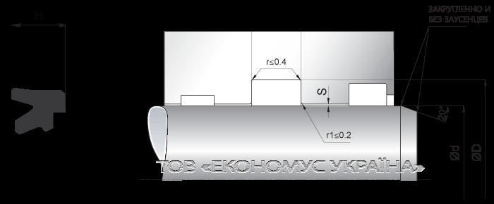 Посадочное место уплотнения штока (штоковой манжеты) S18_R
