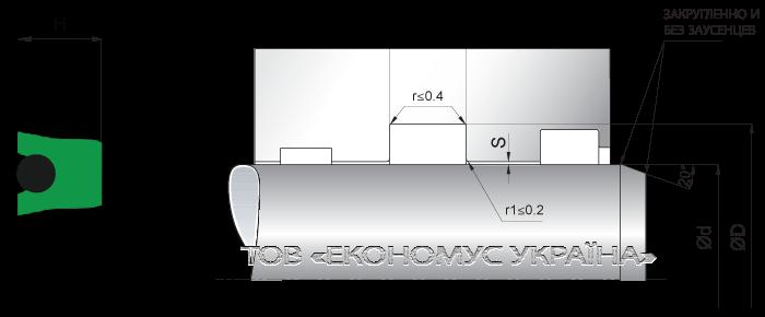 Посадочное место уплотнения штока (штоковой манжеты) S21_P
