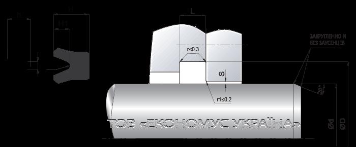 Посадочное место уплотнения штока (штоковой манжеты) S22_R