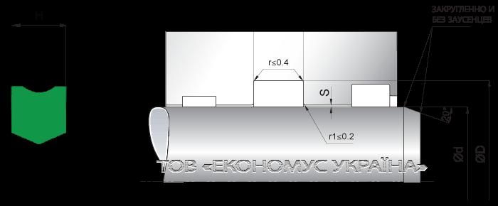 Посадочное место уплотнения штока (штоковой манжеты) S35_P